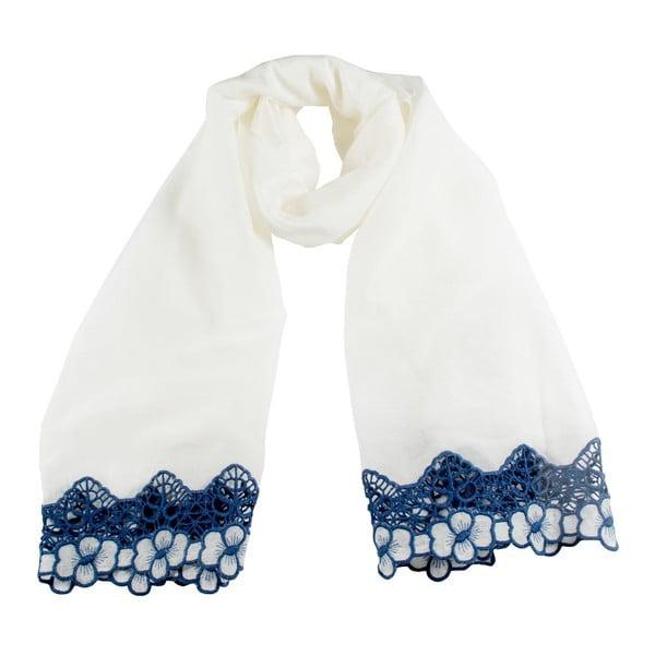 Šátek Florentine White/Blue
