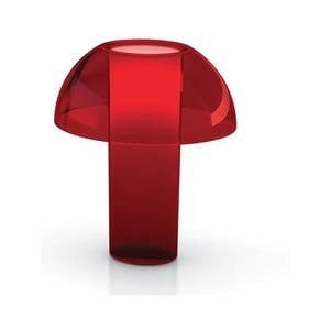 Stolní lampa Colette L003TA, transparentní červená