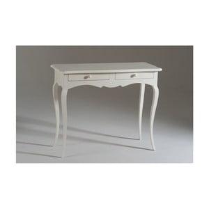 Măsuță consolă, din lemn cu 2 sertare, Castagnetti Firenze, alb