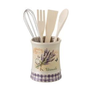 Set ručních kuchyňských nástrojů v kameninové nádobě Unimasa Lavender