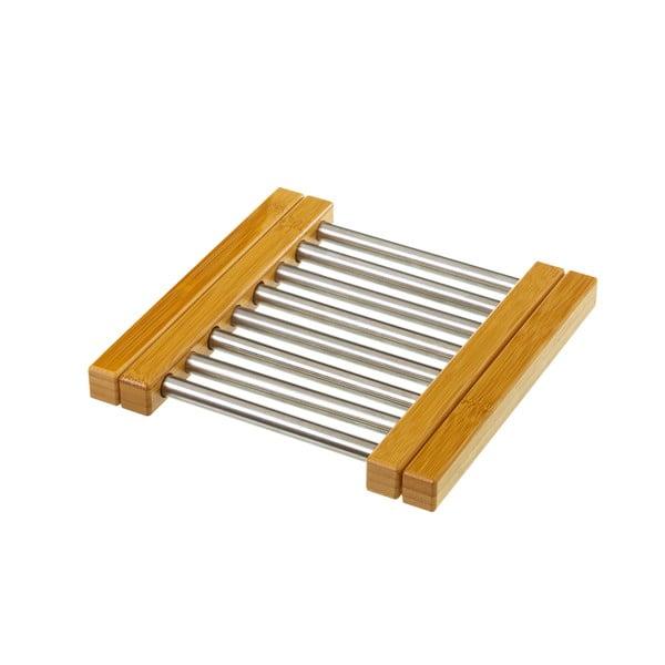 Suport reglabil din bambus și oțel pentru recipiente fierbinți Unimasa