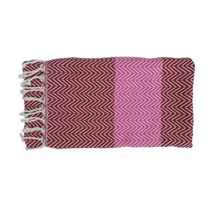 Fialová ručně tkaná osuška z prémiové bavlny Homemania Damla Hammam,100x180 cm
