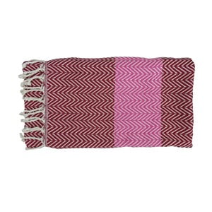 Prosop țesut manual din bumbac premium Damla, 100 x 80 cm, violet