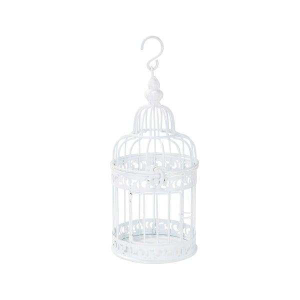 Kovová lucerna White Birdcage