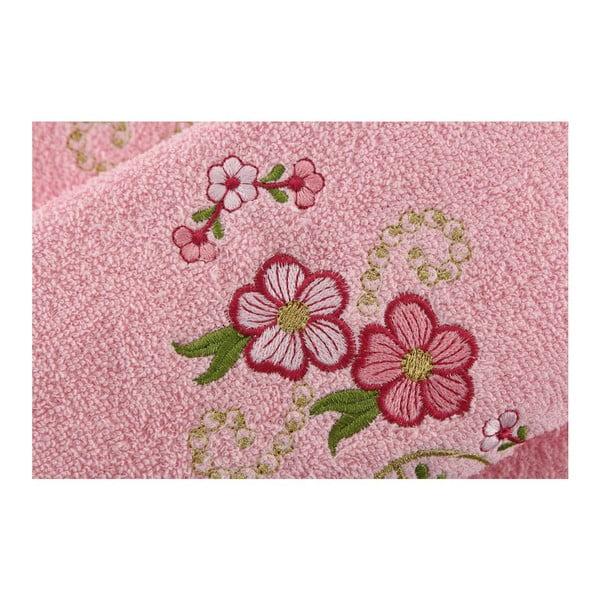 Sada 2 ručníků Happy Pink