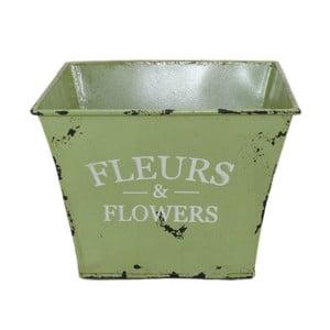Květináč Fleurs Green, 15x15 cm