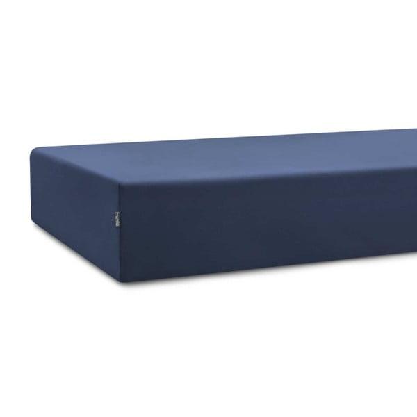 Tmavě modré bavlněné prostěradlo Mumla, 60 x 120 cm