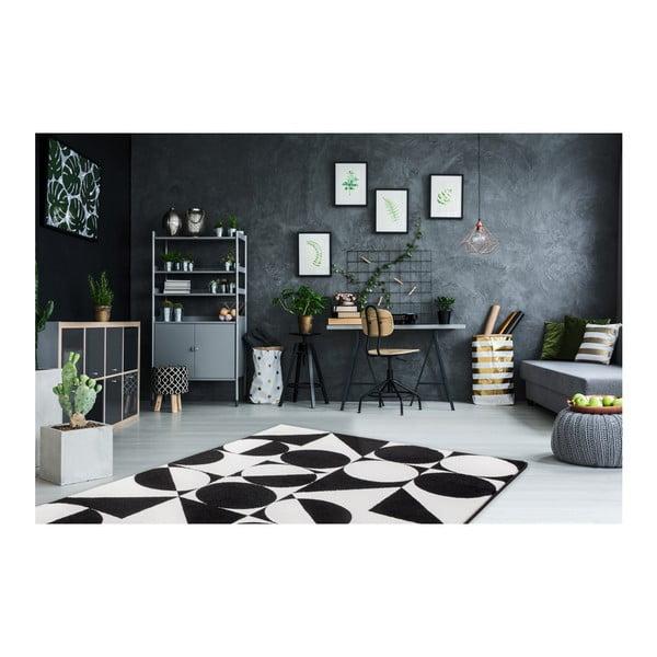Černobílý koberec Obsession My Black & White Kalo, 80 x 150 cm