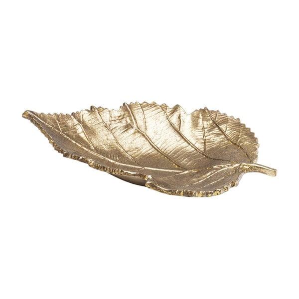 Dekorativní mísa ve zlaté barvě Kare Design Leaf