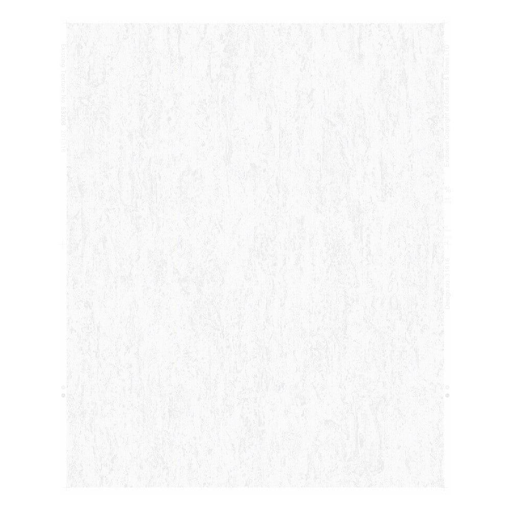 Bílá nástěnná tapeta Graham & Brown Albert Plain White, 0,52x10m