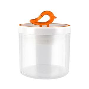 Oranžová dóza Vialli Design Livio, 400ml