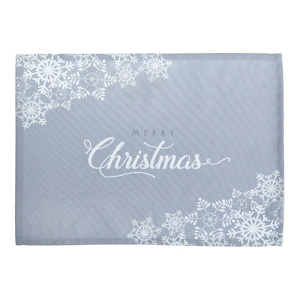 Sada 2 šedých prostírání s vánočním motivem Apolena Honey Christmas, 33 x 45 cm