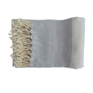 Prosop țesut manual din bumbac premium, 100 x 80 cm, albastru