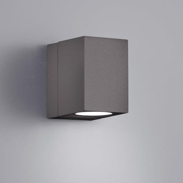 Šedé venkovní nástěnné svítidlo Trio Tiber, výška10 cm
