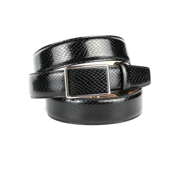 Pánský kožený pásek 17SN10S Black, 100 cm