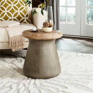 Betonový zahradní stolek vhodný do exteriéru Safavieh Nemea