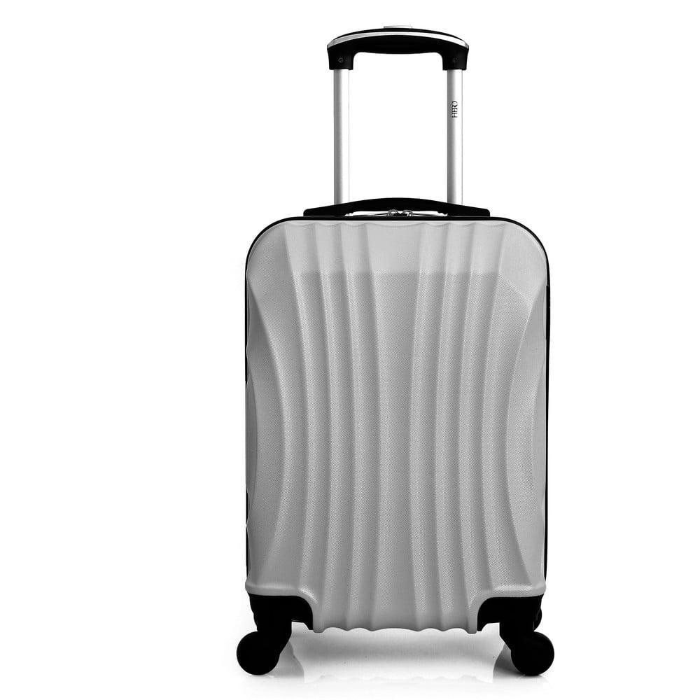Stříbrně šedý cestovní kufr na kolečkách Hero Moscou-e, 30 l