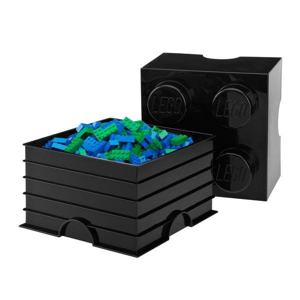Úložná kostka, černá
