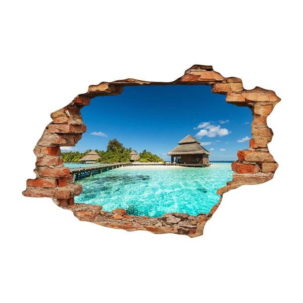 Samolepka Ambiance Beach Villas on Tropical Island, 60 x 90 cm