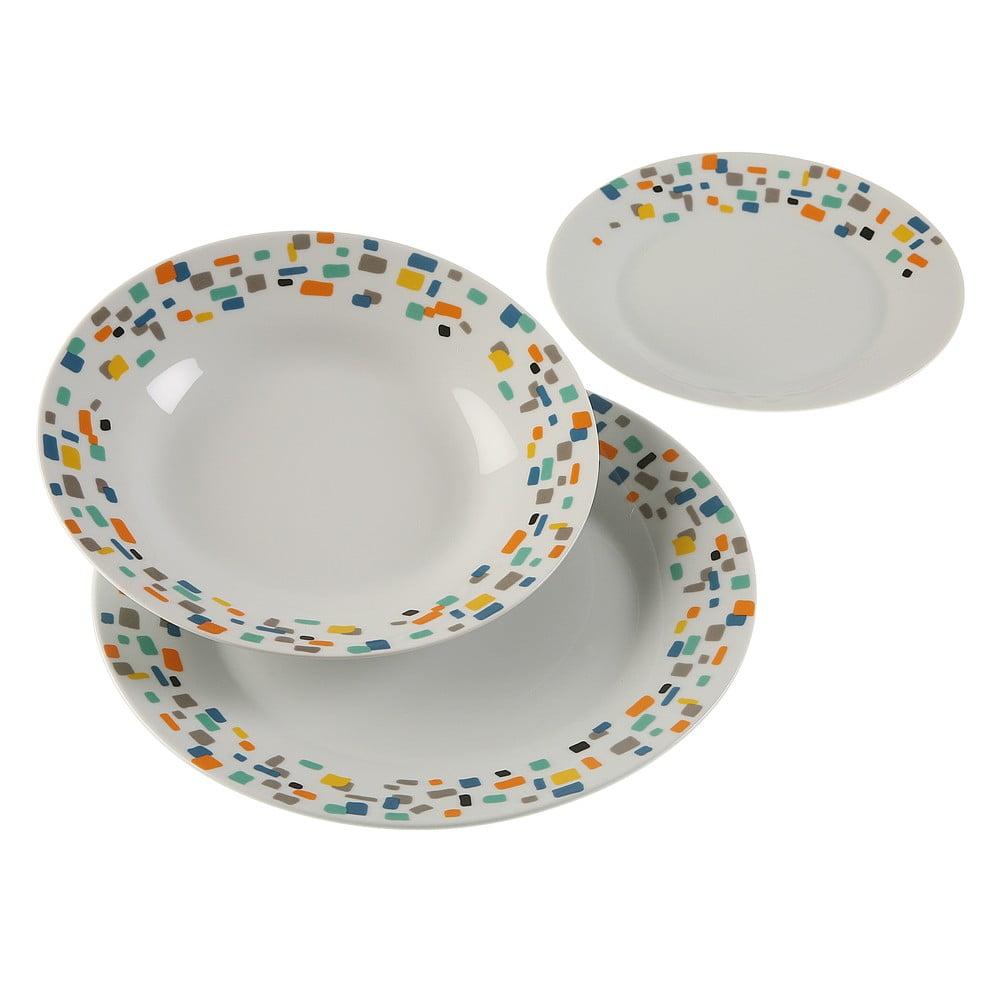18dílná sada porcelánových talířů Versa Grout VERSA