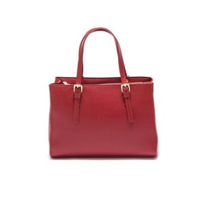 Růžová kožená kabelka Isabella Rhea Classic Rosso
