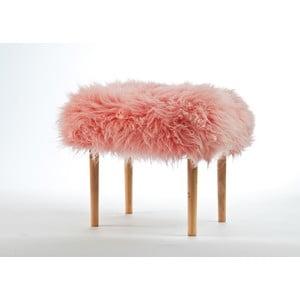 Stolička z ovčí kůže Carys Baby Pink