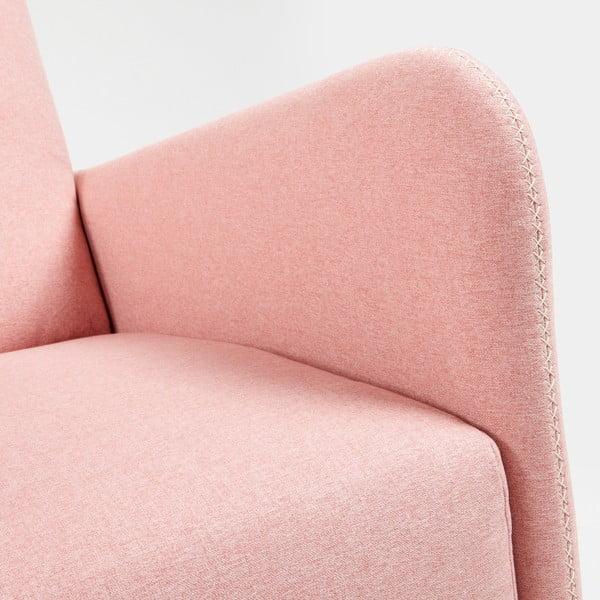 Růžové křeslo La Forma Kopa