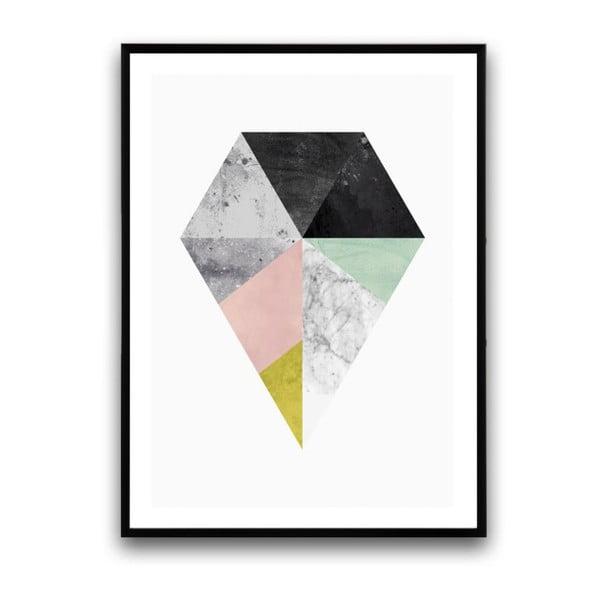 Plakát v dřevěném rámu Lippia, 38x28 cm