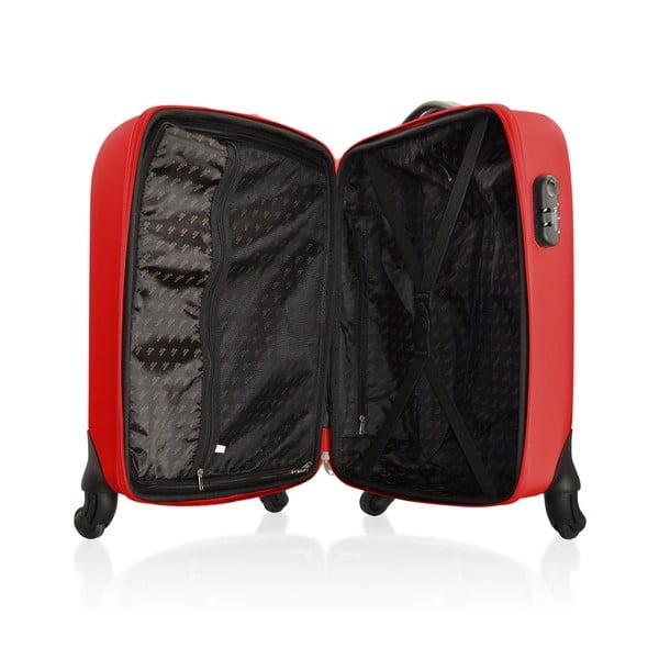 Sada tašky na kolečkách a příruční tašky Vanity Red, 46 + 12 l
