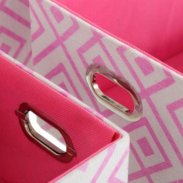 Set 3 cutii de depozitare Unimasa Paulovnia, roz