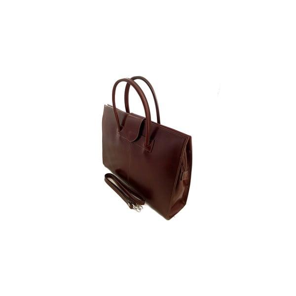 Kožená kabelka Montefalco, čokoládová