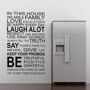Samolepka na stěnu About Family, 70x50 cm