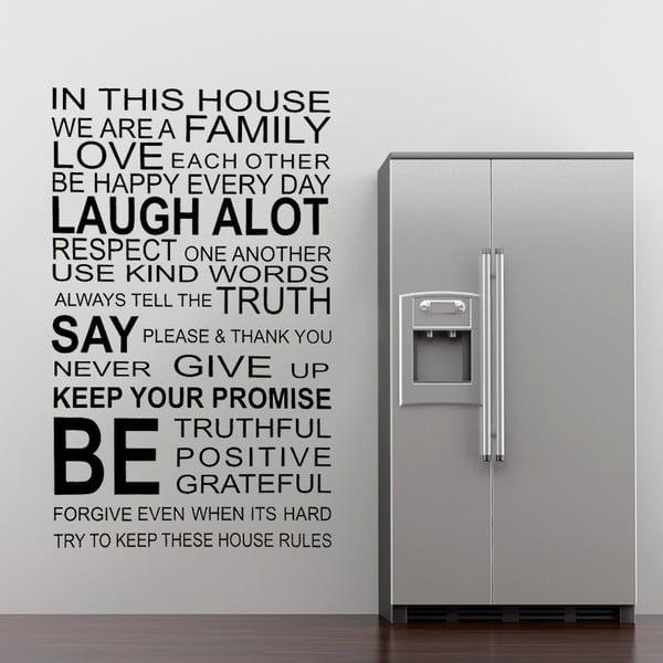 Samolepka na zeď About Family, 90x60 cm