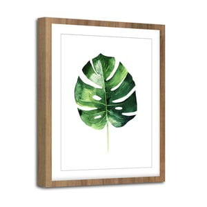 Obraz Styler Modernpik Greenery Wooden Monstera, 30 x 40 cm