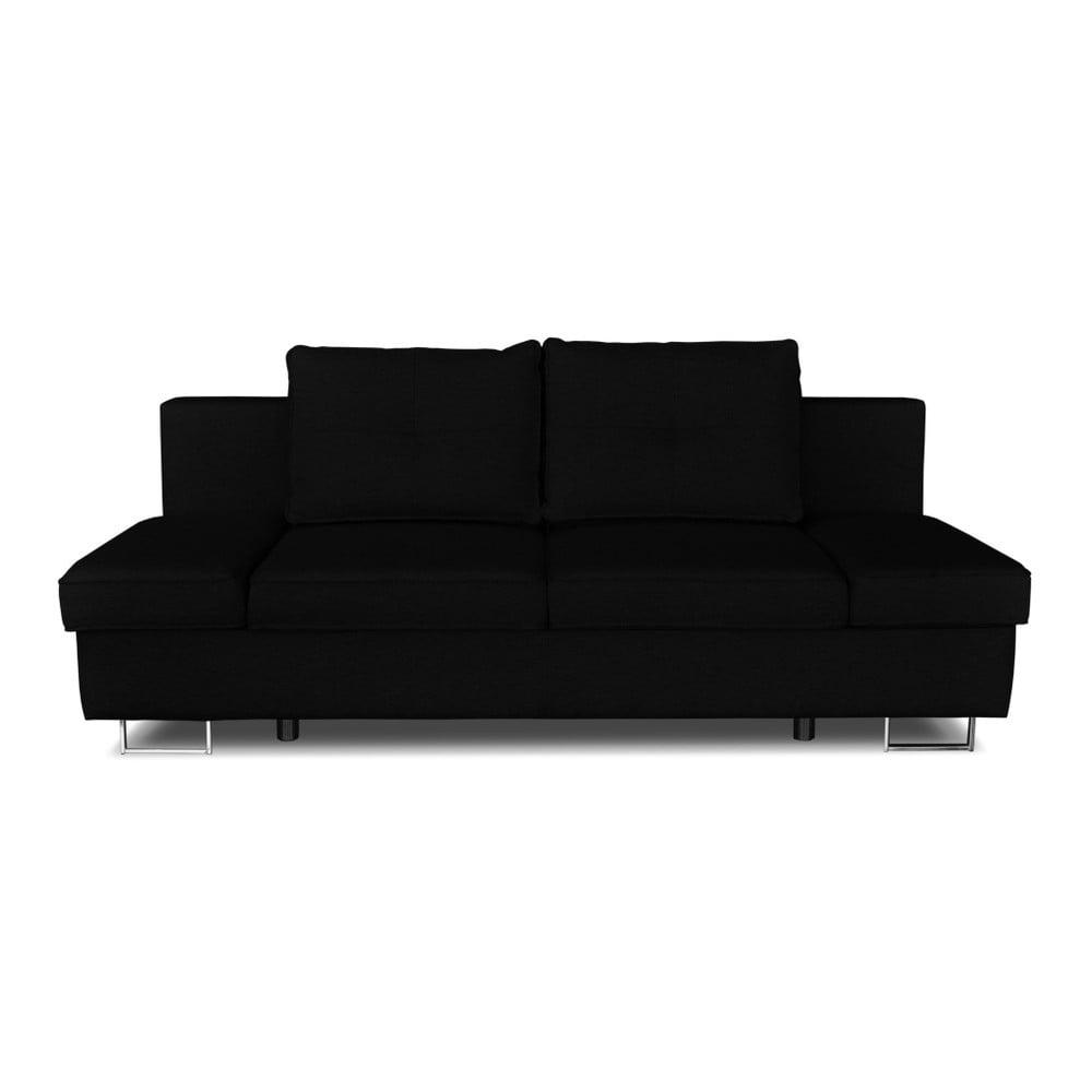 Černá dvojmístná rozkládací pohovka Windsor & Co. Sofas Iota