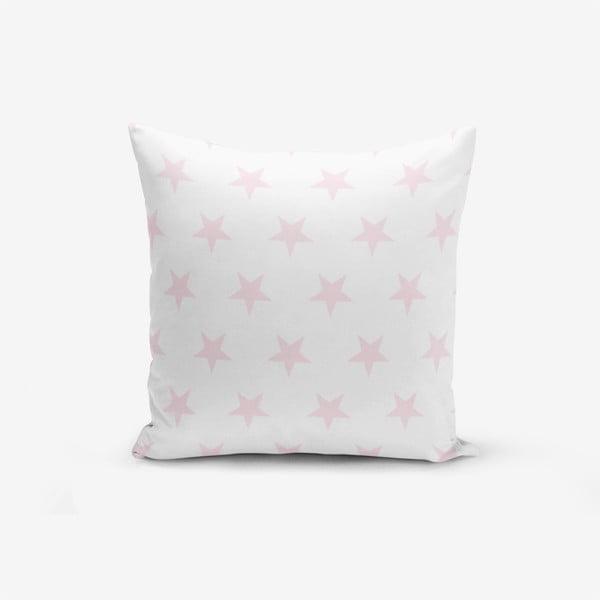 Față de pernă cu amestec din bumbac Minimalist Cushion Covers Powder Colour Star Modern, 45 x 45 cm