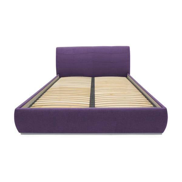 Fialová dvoulůžková postel Mazzini Beds Luna, 140x200cm
