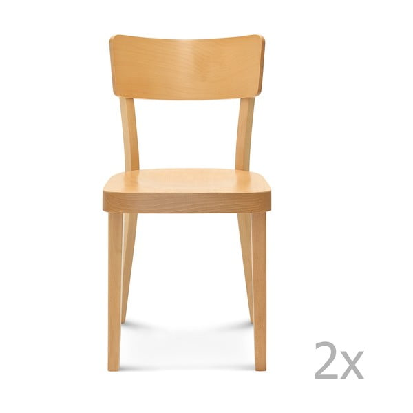 Set 2 scaune de lemn Fameg Lone