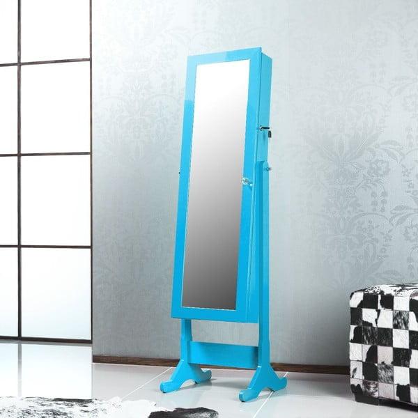 Uzamykatelné stojací zrcadlo se šperkovnicí Belisa, tyrkysové