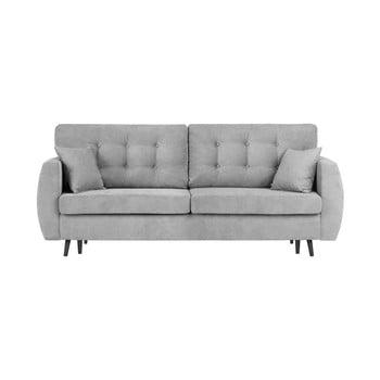 Canapea extensibilă cu 3 locuri și spațiu pentru depozitare Cosmopolitan design Rotterdam 231x98x95cm gri