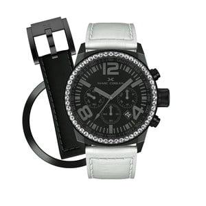 Dámské hodinky Marc Coblen s páskem a kroužkem navíc P48