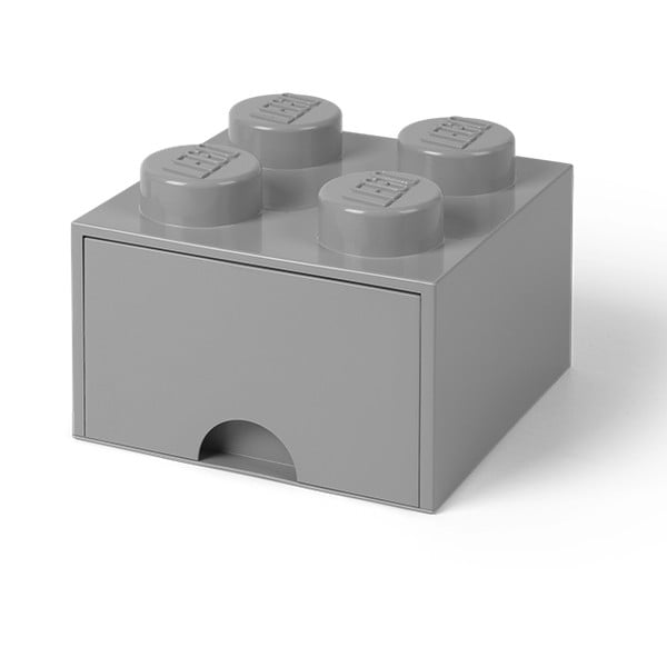 Cutie pătrată pentru depozitare LEGO®, gri