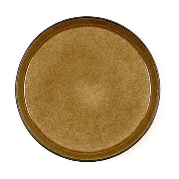 Okrovožltý kameninový plytký tanier Bitz Mensa, priemer 27 cm