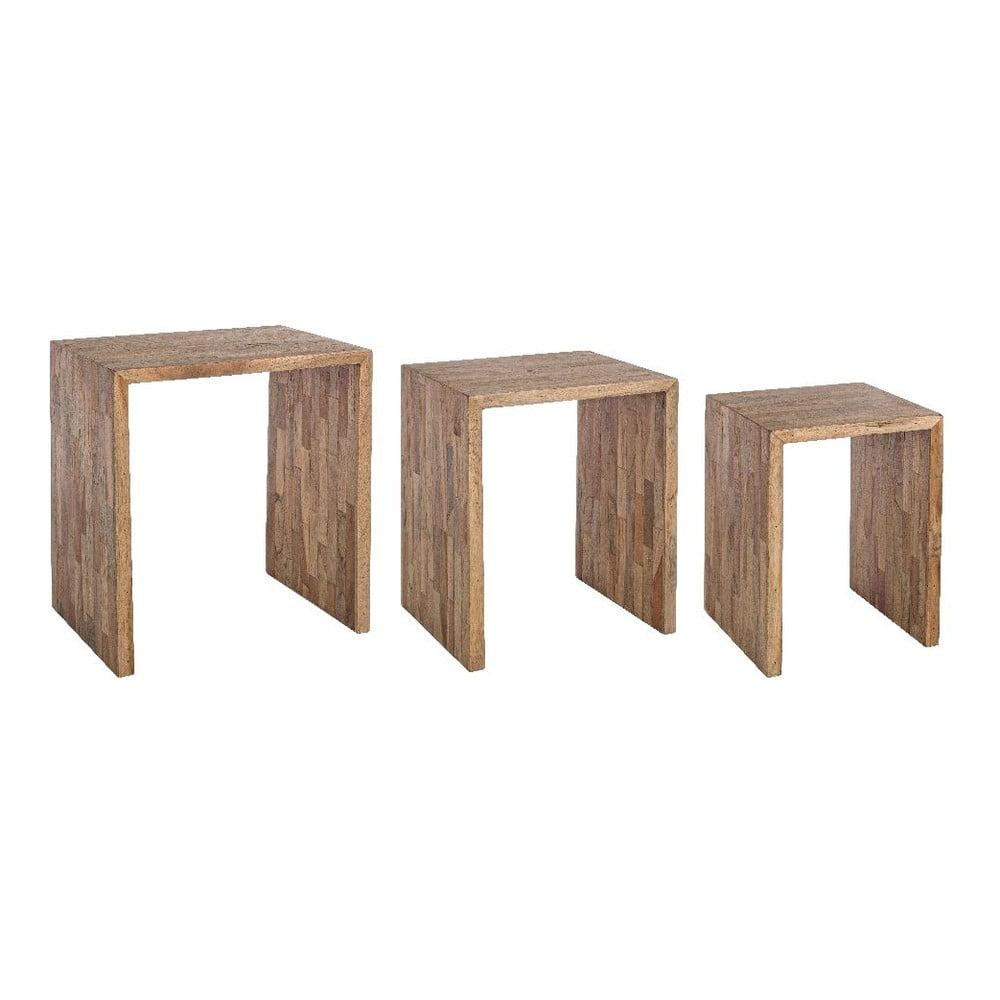 Sada 3 odkládacích stolků z recyklovaného dřeva Bizzotto Alvin