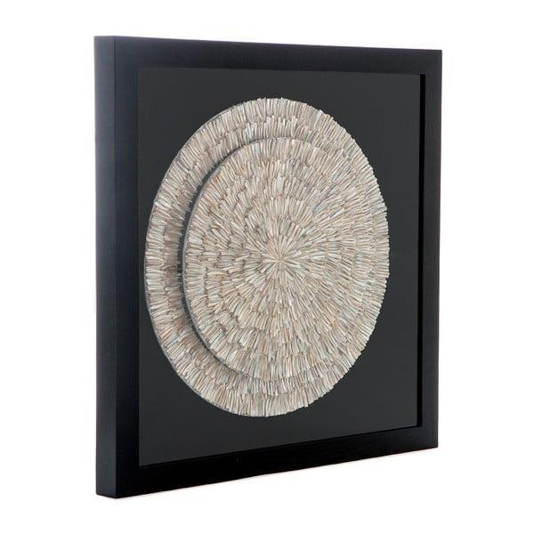 Ručně vyráběná nástěnná dekorace v rámu Vivorum Moon, 80x80cm