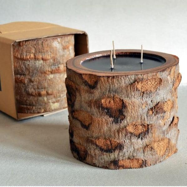Palmová svíčka Legno Ebony s vůní vodního květu, 100 hodin hoření