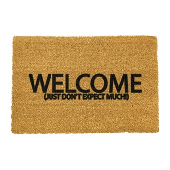 Covoraș intrare din fibre de cocos Artsy Doormats Welcome Don't Expect Much, 40 x 60 cm imagine