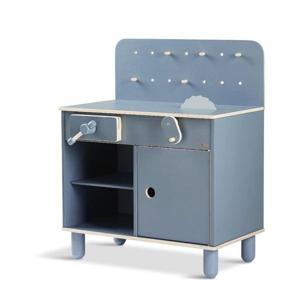 Modrá detská dielnička Flexa Toys The Workbench