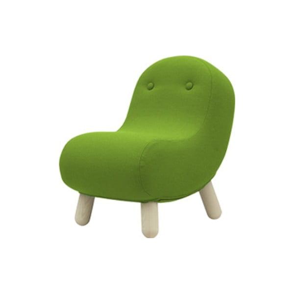 Zielony fotel Softline Bob Felt Melange Green