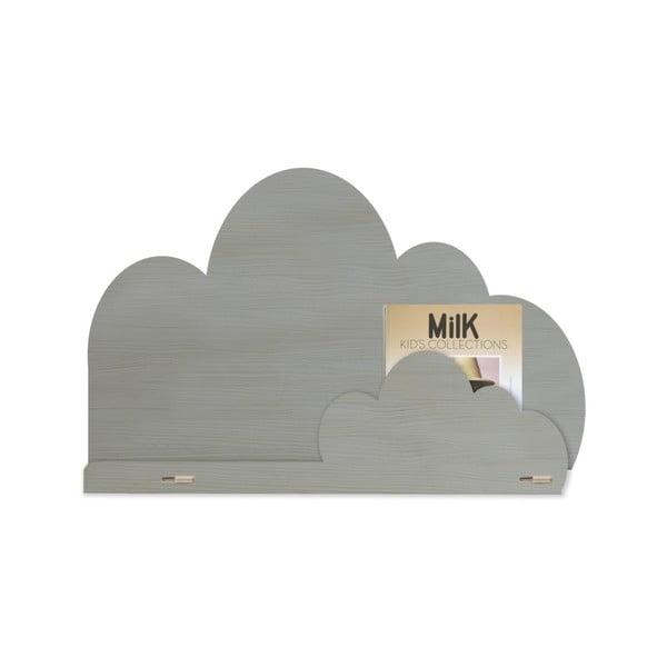 Sivá polica z brezového dreva Little Nice Things Cloud